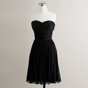 J. Crew Arabelle Strapless Silk Chiffon Dress